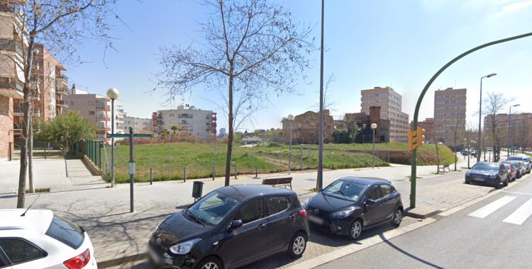 Imatge dels terrenys on s'ubicarà el futur CAP Can Llong, a la ronda Europa (522)