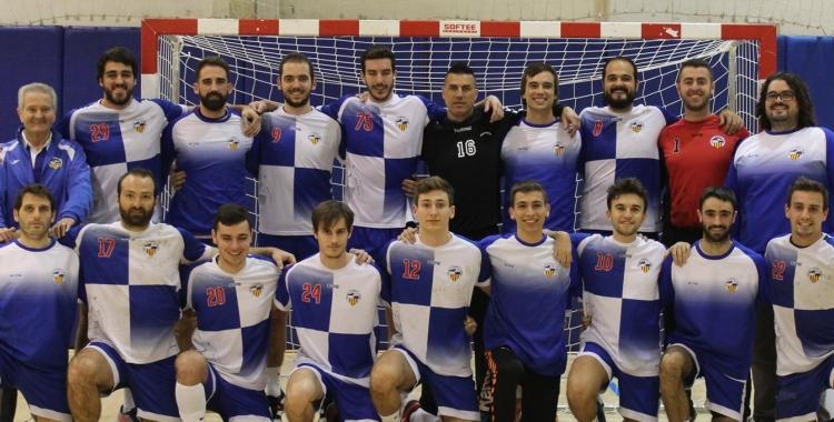 Plantilla creualtenca que ha aconseguit l'ascens a Nacional   Creu Alta Sabadell Handbol