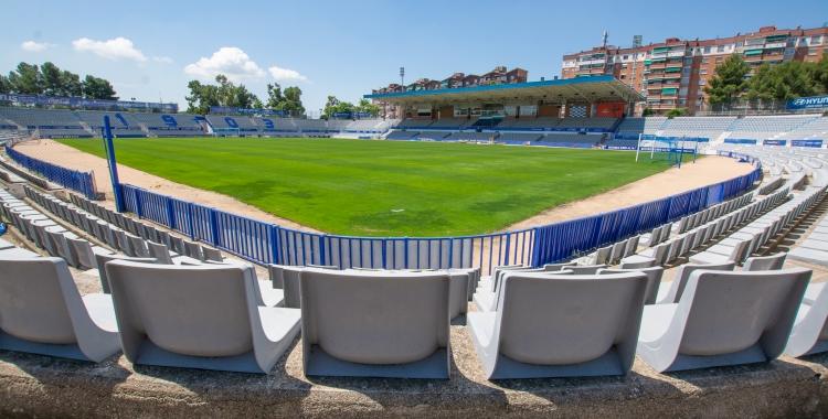 Les obres de l'estadi ja han començat i s'allargaran durant les pròximes setmanes   Roger Benet