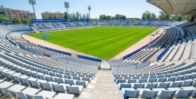 L'últim partit disputat al 'Temple' va ser l'amistós del Sabadell contra l'Europa el passat 10 de juliol   CE Sabadell