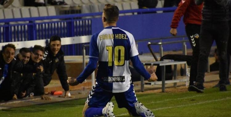 Édgar Hernández ha estat el pitxiti del Sabadell enguany amb 10 gols   Críspulo Díaz