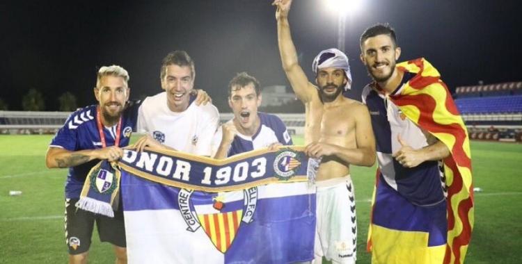 D'esquerra a dreta: Ángel, Capó, Josu, Óscar i Aleix | @Angel31Martinez