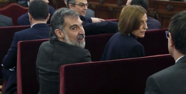 Jordi Cuixart i Carme Forcadell durant el judici | Cedida