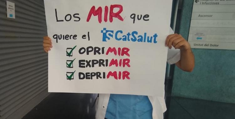 Un metge del MIR de l'Hospital del Mar/ Cedida