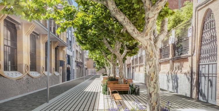Simulació del projecte del carrer Indústria   Cedida