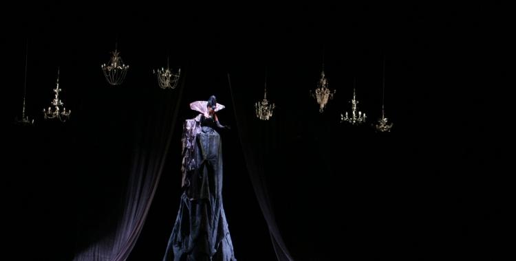 Elisa Vélez (Reina de la Nit) en l'última representació de La Flauta Màgica a La Faràndula, 2013   AAOS