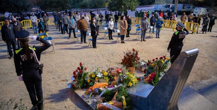 Una quinzena d'entitats han volgut retre homenatge al president de la Generalitat de Catalunya afusellat pel franquisme, Lluís Companys | Roger Benet