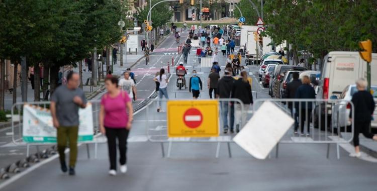 Avinguda Concòrdia durant un dia que no hi ha trànsit rodat | Roger Benet