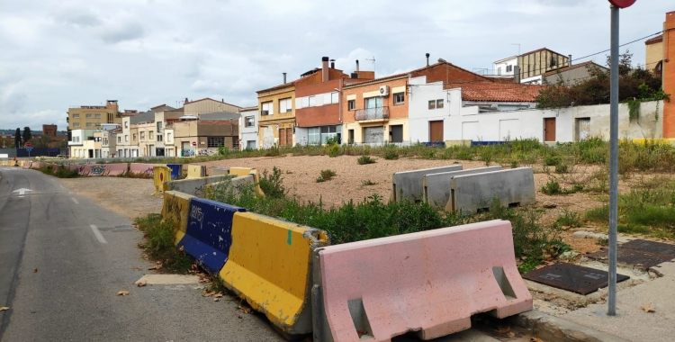Aquest és l'estat actuat de la zona urbanitzable que ha quedat sobre les vies soterrades   Pau Duran