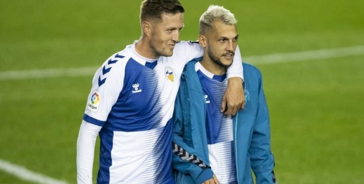 Edgar i Stoichkov, protagonistes en el segon gol del Sabadell aquesta temporada   CE Sabadell