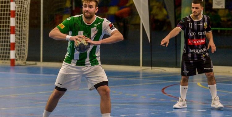 Imatge d'arxiu de Bernat Correro en el partit de la temporada passada a La Roca | jas - OAR Gràcia
