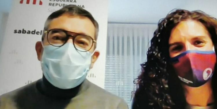 Gabriel Fernández i Èlia Soriano, regidors d'Esquerra/ Cedida