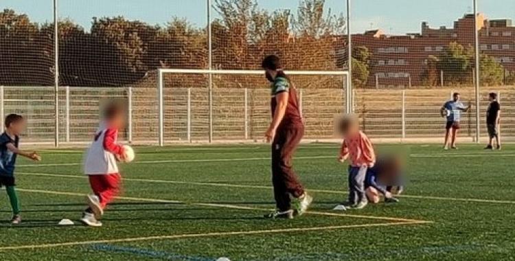Imatge del primer entrenament de l'Escoleta | @SabadellRC