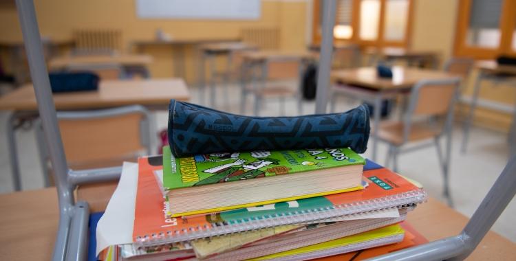Una aula el primer dia del curs escolar   Roger Benet