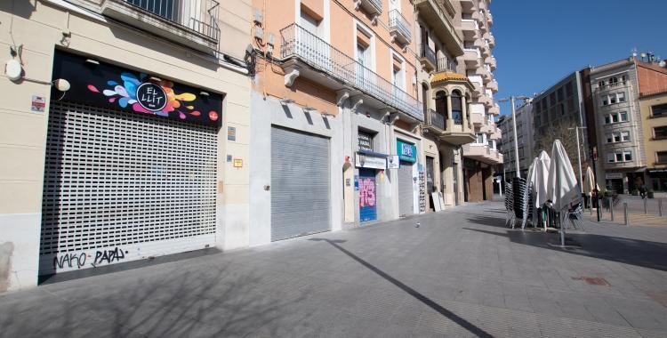 Locals comercials tancats al Centre durant el primer confinament | Roger Benet