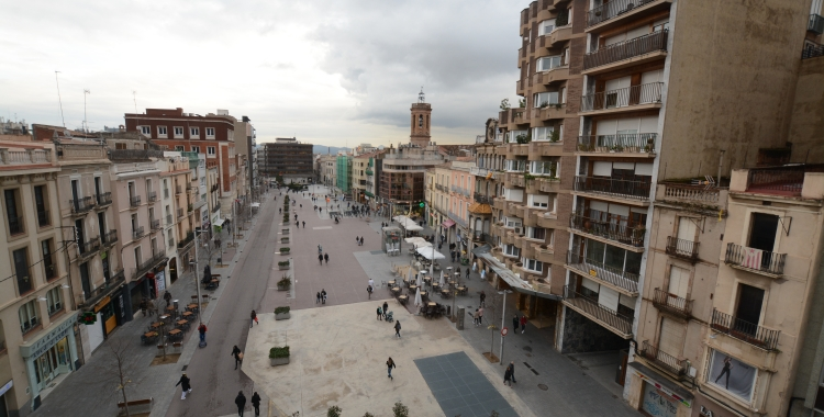 El passeig de la plaça Major el 2018 | Roger Benet