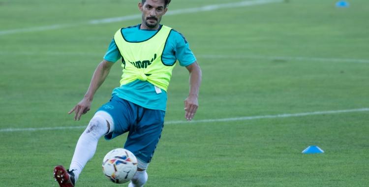 Óscar Rubio durant un entrenament aquesta temporada | Roger Benet