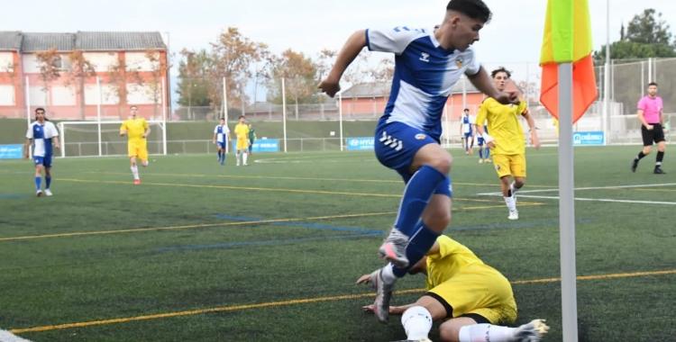 Acció del partit del Centre d'Esports Sabadell contra el Huesca| FutBase CES