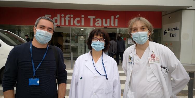 Els impulsors del projecte d'esquerra a dreta Xavier Gallego, Mercè Vergara i Juan Francisco Delgado