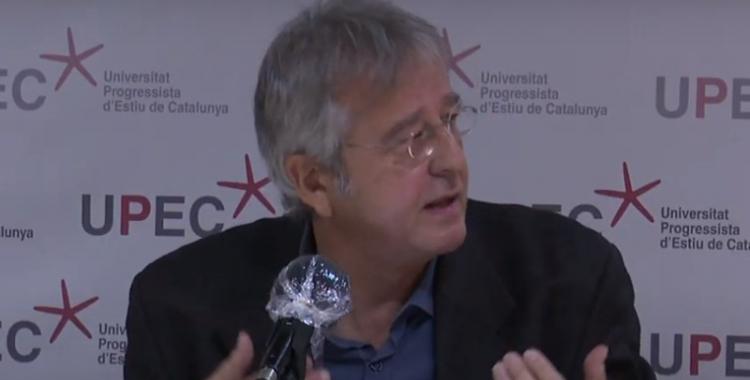 Jordi Serrano, rector de la UPEC, durant la xerrada inaugural