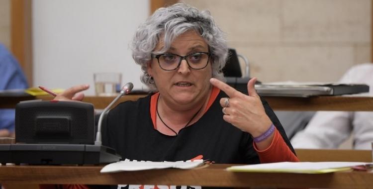 La portaveu de la Crida, Nani Valero, en un Ple municipal | Roger Benet