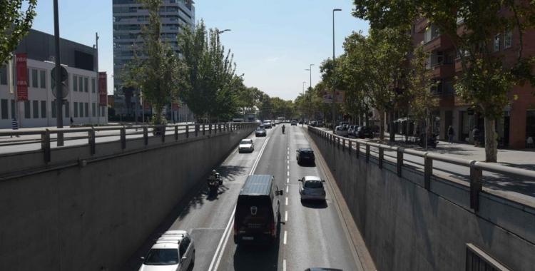 La Gran Via, un dels punts amb més contaminació atmosfèrica de la ciutat/ Roger Benet