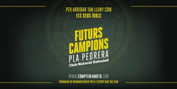 Capçalera de la campanya de micromecenatge del Club | CN Sabadell
