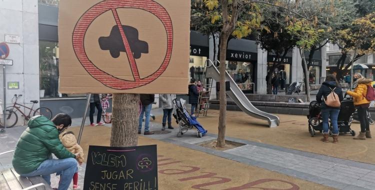 Portesta a la plaça de l'Àngel | Cedida
