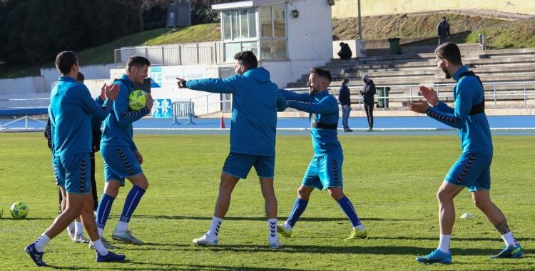 El darrer entrenament del Sabadell ha tingut lloc a Sant Oleguer   CE Sabadell