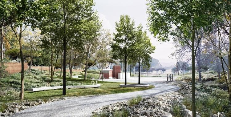 Simulació del projecte del Parc del Nord | Cedida