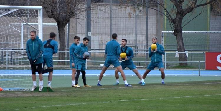 Per la tarda, el Sabadell s'ha exercitat a Sant Oleguer | Roger Benet