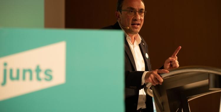 Josep Rull durant l'acte Junts | Roger Benet