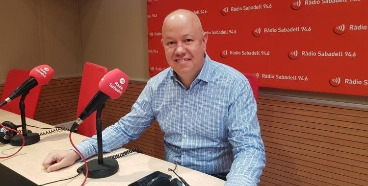 Joan García, a Ràdio Sabadell/ Arxiu