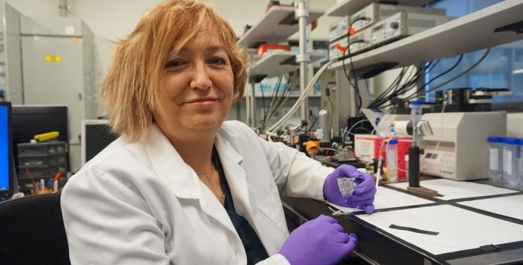 Laura Lechuga, al seu laboratori/ Cedida