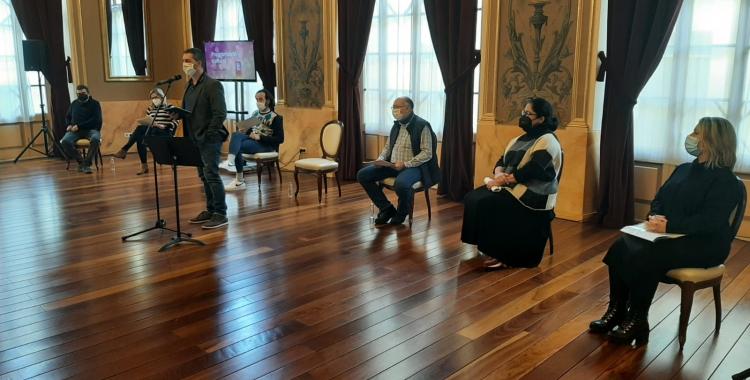 Carles de la Rosa presentant la tmeporada cultural al Teatre Principal   Cedida