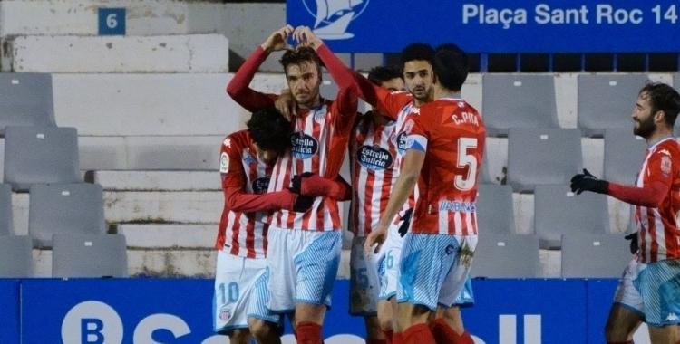 Barreiro celebra el gol de penal | CD Lugo