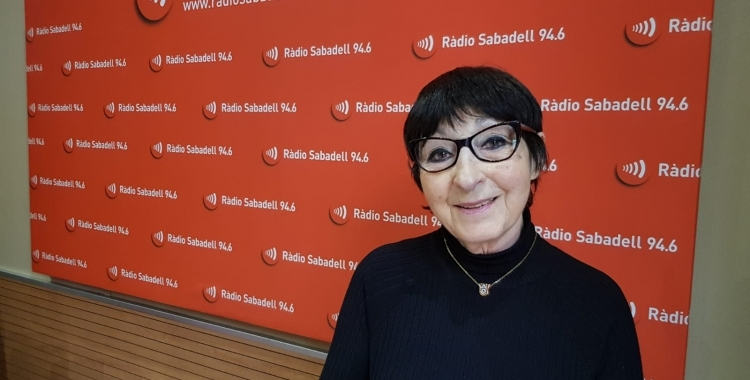 Mirna Lacambra, presidenta dels Amics de l'Òpera a Ràdio Sabadell   Arxiu
