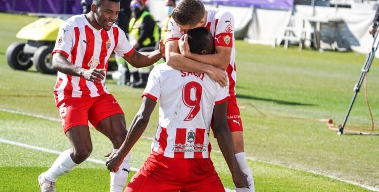 Alegria en l'equip indàlic en un dels gols contra l'Alavés en Copa | UD Almería