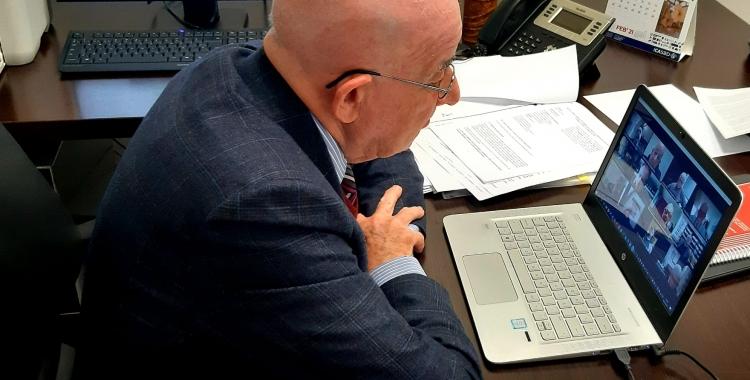 Antoni Quintana, al seu despatx   Cedida