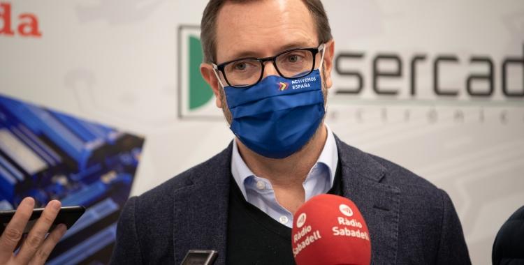 Javier Maroto ha visitat l'empresa sabadellenca Insercad/ Roger Benet