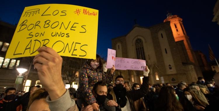 Un miler de persones demanen la llibertat del raper lleidatà PabloHaséla la plaça Sant Roc | Roger Benet