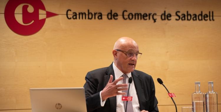 El president del BS, Josep Oliu, a la Cambra de Comerç de Sabadell | Roger Benet