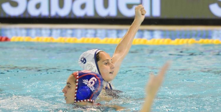 Forca, celebrant un dels gols de la final contra l'Olympiacos   Roger Benet