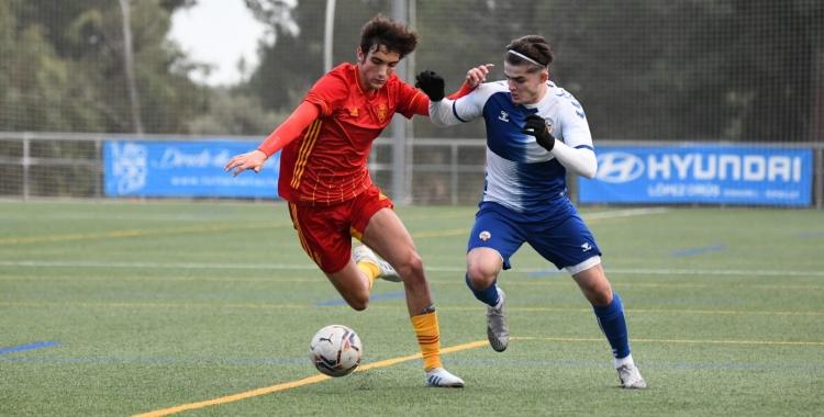 Acció del partit contra Zaragoza a Olímpia | @FutBaseCES