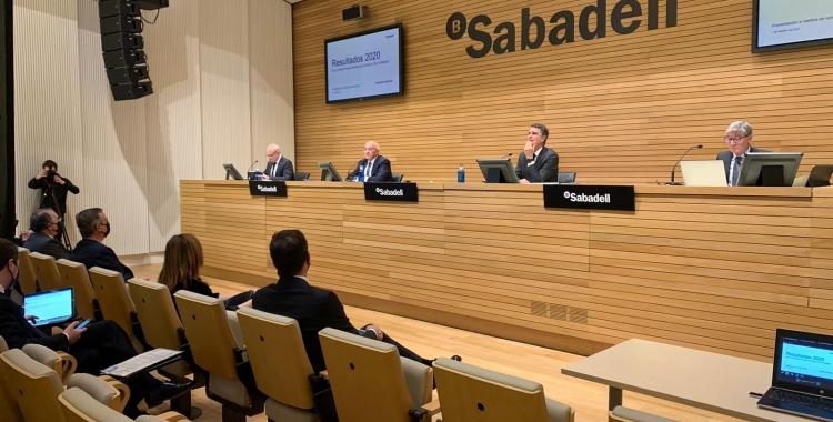 Banc Sabadell presenta els resultats del 2020 | Cedida