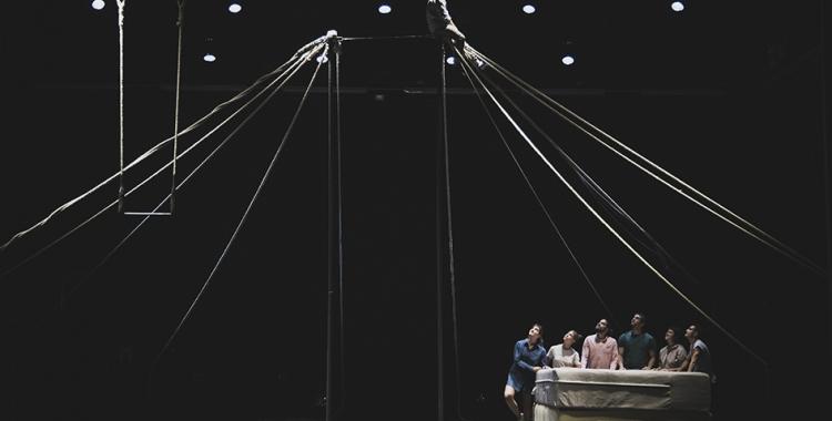 Un moment dels assaigs al Teatre Principal | Marta García Cardellach