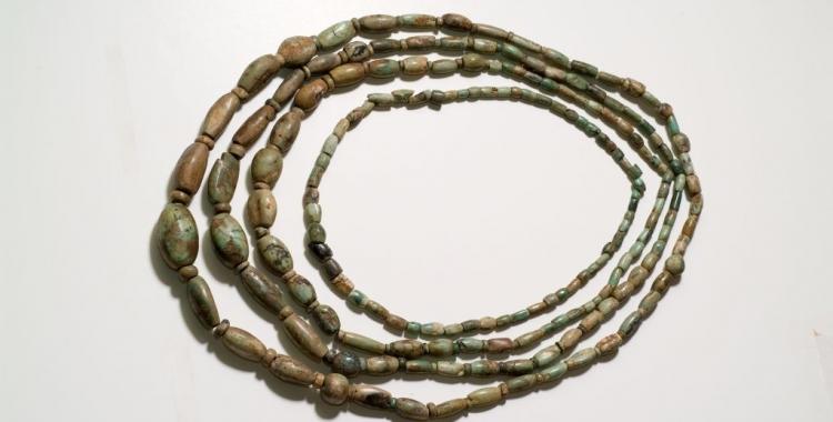 Imatge del collar de variscita/ Cedida