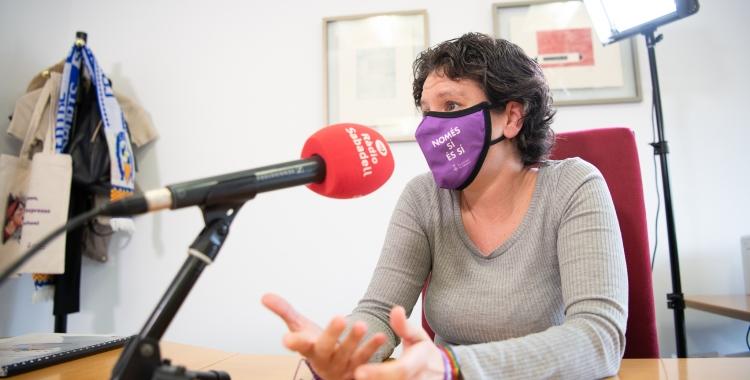 Marta Morell durant l'entrevista a 'El Cafè de la Ràdio' | Roger Benet