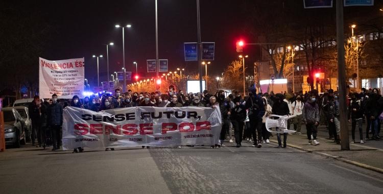 La manifestació sota el lema 'Sense futur, sense por'   Roger Benet