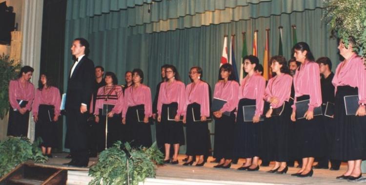 El Cor Lieder Càmera, l'any 1992, de gira a Sant Vicenç dels Horts | Cedida